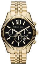 Michael Kors Mens Lexington Goldtone Chronograph Watch