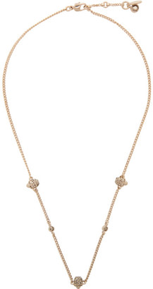 Alexander McQueen Gold Short Chain Necklace