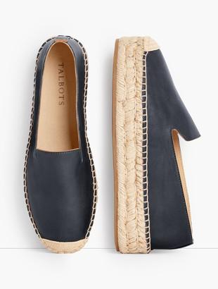 Talbots Quinn Leather Platform Espadrilles