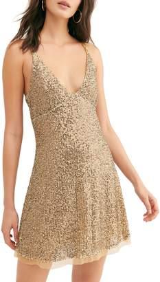Free People Gold Rush Sequin Mini Dress