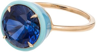 Alison Lou 14kt gold Cocktail sapphire ring