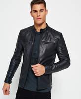 Superdry Leather Quilt Racer Jacket