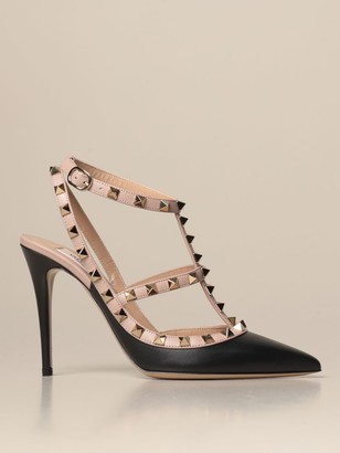 Valentino Rockstud Pumps In Leather With Studs