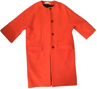 Marni Orange Wool Coat for Women