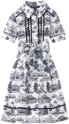 Brooks Brothers Printed Shirtdress
