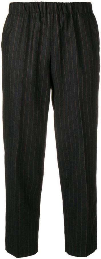 Kiltie pinstripe cropped trousers