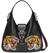 Gucci Dionysus embroidered large leather hobo - women - Leather/Nylon/metal/Microfibre - One Size