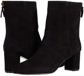 J.Crew Suede Minimal Mckay Ankle Boot (Black) Women's Shoes