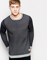 Bellfield Knitted Sweater with All Over Print