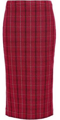 McQ Checked Tweed Midi Pencil Skirt