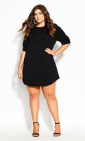 City Chic Impulse Dress - black
