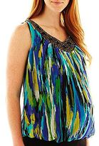 JCPenney Maternity Embellished Scoopneck Tank Top
