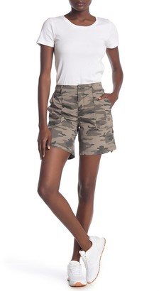 Sanctuary Camo Poplin Roll Tab Shorts