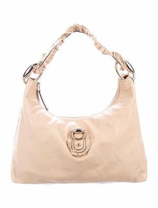 Gucci Leather Sabrina Hobo Tan