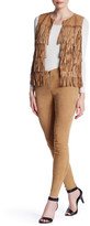Alice + Olivia Serra Front Zip Genuine Suede Riding Legging