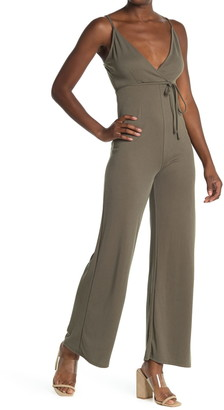 Velvet Torch Tie Waist Wide Leg Jumpsuit