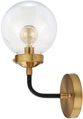 Jonathan Y Designs Caleb 12In 1-Light Brass Wall Sconce