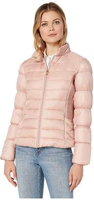 Via Spiga Packable Moto Puffer (Blush) Women's Clothing