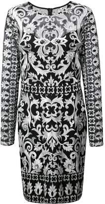 Nicole Miller short embroidered dress
