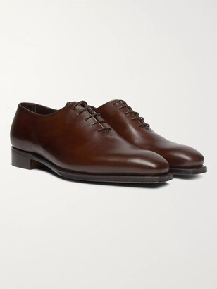 George Cleverley Alan 3 Whole-cut Leather Oxford Shoes - Brown