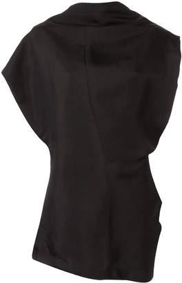 Jil Sander draped neckline sleeveless blouse