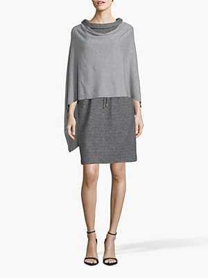 Betty Barclay Fine Knit Embellished Poncho, Grey Melange