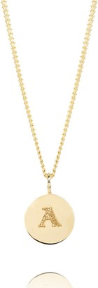 Amy Russell Taylor Jewellery Solid Gold Personalised Baby Disc Necklace