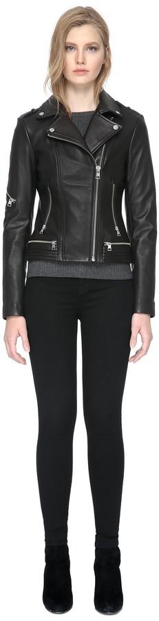 Soia & Kyo JASMINA slim-fit leather jacket in black