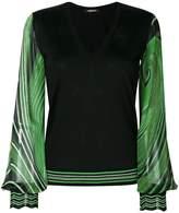 Roberto Cavalli v-neck printed pullover