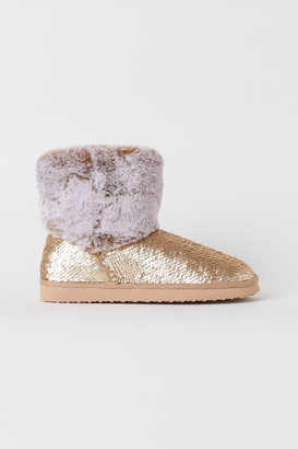 H&M Sequin-embroidered boots