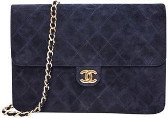 Chanel Timeless/Classique Navy Suede Handbags