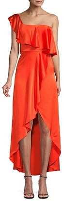 Alexis Ruffled Silk High-Low Dress