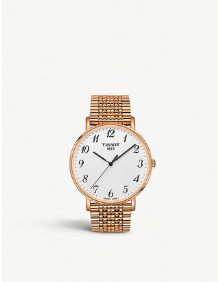 Tissot T1096103303200 Everytime stainless steel case with rose gold PVD coating watch
