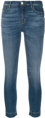 Pinko faded skinny cropped jeans