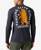 Reebok Men's Bear-Graphic Long-Sleeve Cotton T-Shirt