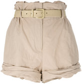 Moschino high-waisted shorts - women - Cotton/Polyamide/metal - 40