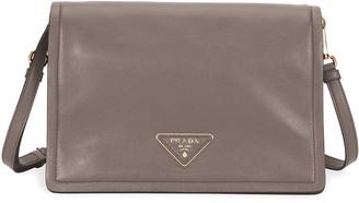 Prada Glace Calf Soft Messenger Crossbody Bag