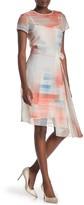 BOSS Difuna Asymmetrical Silk Blend Dress