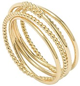 Lagos 18K Gold Covet Beaded and Smooth Multi Band Ring