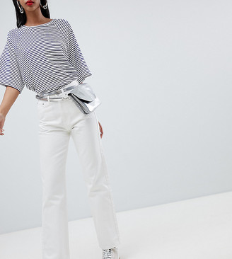 Weekday Row slim straight leg jeans with organic cotton in white