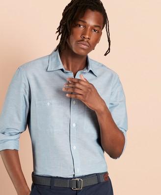 Brooks Brothers Linen-Cotton Chambray Sport Shirt