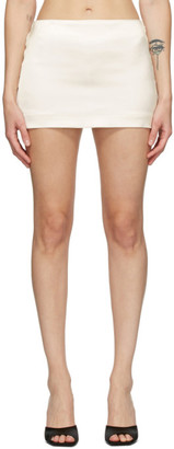 GAUGE81 Off-White Heavy Satin Tulua Miniskirt