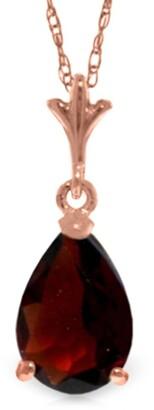 Overstock 1.5 Carat 14K Rose Gold Pear Garnet Necklace