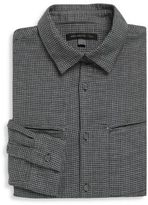 John Varvatos Slim-Fit Houndstooth Dress Shirt