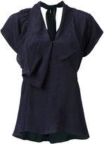 Marni draped v-neck blouse - women - Viscose - 40