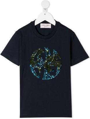 Alberta Ferretti Kids sequin embellished T-shirt