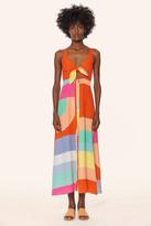 Mara Hoffman Tie Front Button Up Midi Dress