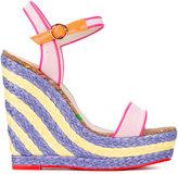 Sophia Webster 'Lucita Sand' wedge sandals - women - Cotton/Leather/rubber - 37