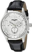 Jorg Gray Men's Quartz Watch with Silver Dial Analogue Display and Black Leather Strap JG6600-22