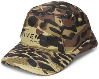 Givenchy Camouflage Print Baseball Cap
